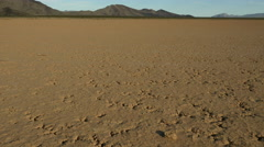 Barren Landscape of a dry lake, drought conditions Stock Footage