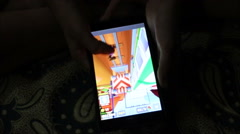 Game Playing On Mobile Stock Footage