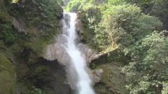 Waterfall in the jungle, Luang Prabang, Laos Stock Footage