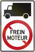 Lorries Do Not Use Engine Brake in Canada Piirros