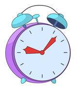 Alarm clock - stock illustration