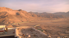 Leh Airport Viewed from Stakna Monastery Stock Footage