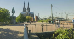 Cologne Dome Cathedral Stock Footage