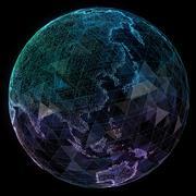Digital design of a global network Stock Illustration