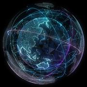 Digital design of a global network - stock illustration