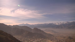 General View fo Leh Town in Ladakh, India Stock Footage