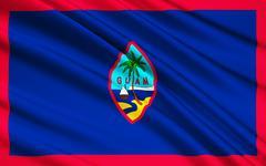 Flag of Guam (US), Hagatna - Melanesia - stock illustration