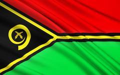 Flag of Vanuatu, Melanesia Stock Illustration