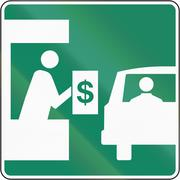 Toll Booth in Canada - stock illustration