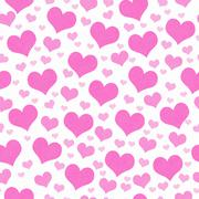 Stock Illustration of Pink and White Hearts Tile Pattern Repeat Background