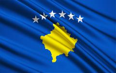 Flag of Kosovo - stock illustration