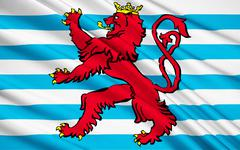 Flag of Luxembourg - stock illustration