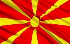 Flag of the Republic of Macedonia - stock illustration