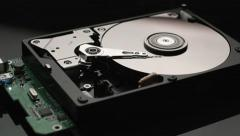Reading data hard disk drive Stock Footage