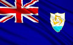 Stock Illustration of Flag of Anguilla, United Kingdom - Valley