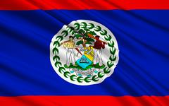 Flag of Belize, Belmopan Stock Illustration