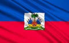 Flag of Haiti - Caribbean, Port-au-Prince - stock illustration