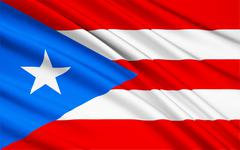 Flag of Puerto Rico (United States) - San Juan - stock illustration