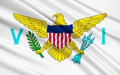 Flag of the US Virgin Islands - stock illustration
