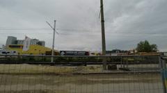Travelling on road in Tallinn in Estonia Stock Footage