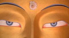 Maitreya Buddha Statue Stock Footage