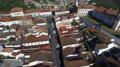 Aerial View of Ouro Preto city, Minas Gerais, Brazil Stock Footage