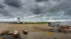 Timelapse at Hanoi airport during cloudy day. Arkistovideo
