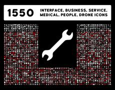 Interface, Business, Tools, People, Medical, Awards Vector Icons - stock illustration