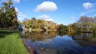 Stock Video Footage of Marble bridge. Pushkin. Catherine Park. Tsarskoye Selo. 4K.
