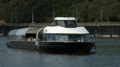 Floating on Bohemia Rhapsody boat in Prague Stock Footage