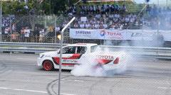 Car performance drift show. Stock Footage