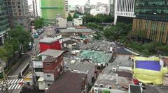 Aerial View Buildings In Jongno Area Seoul South Korea Stock Footage