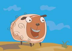 Stock Illustration of Funny sheep