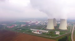 Nuclear power plant. - stock footage