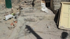 Kandovan, Iran rock  mountin cave homes Stock Footage
