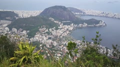 View from Corcovado Mountain Stock Footage