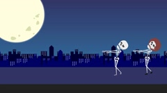 Holiday halloween, Video animation cartoon Stock Footage