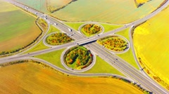 Traffic on highway interchange. Stock Footage
