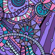 Vector hand draw ethnic background Stock Illustration