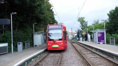 Croydon Tramlink, London.. Stock Footage