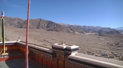 Buddhist Thikse Monastery Stock Footage