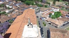 Aerial View of Igreja Nossa Senhora do Pilar Church, Ouro Preto, Brazil Stock Footage