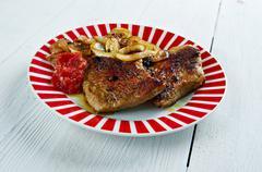 Garam Masala Pork Chops - stock photo