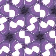 Stock Illustration of Purple floral pattern with abstract ornament