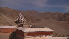 Mountain Range from Monastery Terrace Stock Footage