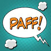 Paff the word comic style - stock illustration