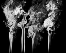 Smoke on black background abstract art texture fog. Element for creative design - stock photo