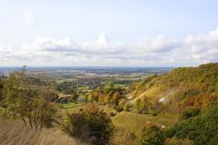 vale of york in autumn - stock photo