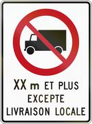 No Lorries With Length in Canada - stock illustration