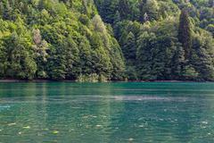 Scenery view of colorful mountain lake Kuvituskuvat